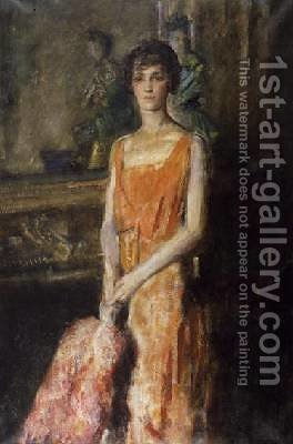 Mademoiselle de Pourtales 1925 by Ambrose McEvoy - Reproduction Oil Painting