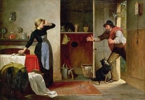 Famous paintings of Furniture: Home Again 1884