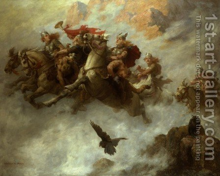 William T. Maud: The Ride of the Valkyries - reproduction oil painting