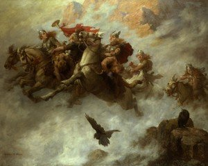 Famous paintings of Horses & Horse Riding: The Ride of the Valkyries