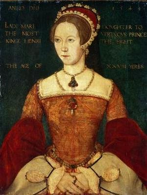 Mannerism painting reproductions: Portrait of Mary I or Mary Tudor 1516-58 daughter of Henry VIII at the Age of 28 1544