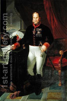 Portrait of Francesco I 1777-1830 King of the Two Sicilies 1826 by Giuseppe Martorelli - Reproduction Oil Painting
