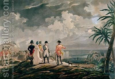Napoleon Bonaparte 1769-1821 on St Helena in 1816 by (after) Martinet, Francois - Reproduction Oil Painting