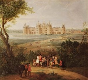 Rococo painting reproductions: The Chateau de Chambord 1722