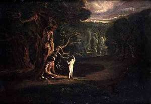 Reproduction oil paintings - John Martin - Satan Tempting Eve from Paradise Lost by John Milton 1608-74