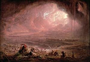 Reproduction oil paintings - John Martin - The Destruction of Herculaneum and Pompeii
