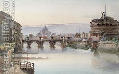 View of Rome 1860 by I. Martin - Reproduction Oil Painting