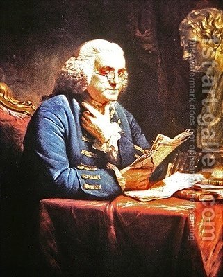 Benjamin Franklin 1766 by (after) Martin, David - Reproduction Oil Painting