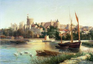 Famous paintings of Ships & Boats: Windsor from the Thames