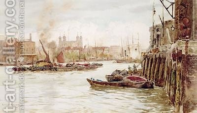 Port of London Upper Pool 1896 by Herbert Menzies Marshall - Reproduction Oil Painting