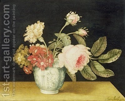 Flowers in a Delft Jar by Alexander Marshal - Reproduction Oil Painting