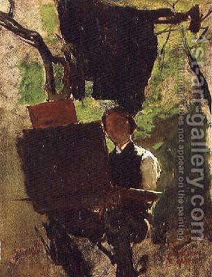 Artist at work by Jacob Henricus Maris - Reproduction Oil Painting