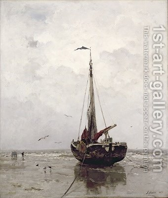 The Fishing Boat 1878 by Jacob Henricus Maris - Reproduction Oil Painting