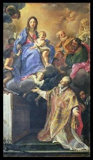 Rococo painting reproductions: The Virgin Mary appearing to St Philip Neri