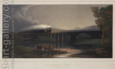 The Express Train 1850 by Henry Maplestone - Reproduction Oil Painting
