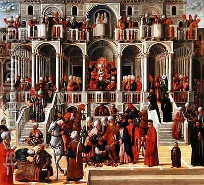 Saint Mark Heals Aniano by Giovanni di Niccolo Mansueti - Reproduction Oil Painting