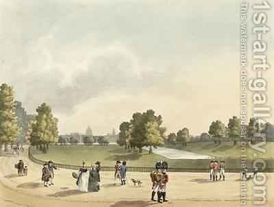 A View in St Jamess Park of the Horse Guards and St Pauls Taken from Buckingham House by (after) Manskirch, Franz Joseph - Reproduction Oil Painting
