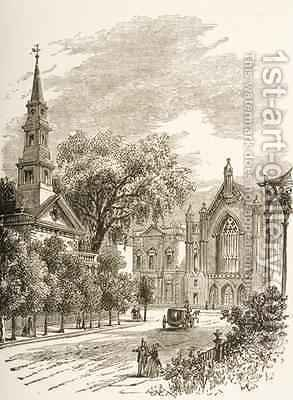 Reverend Samuel Manning: St Marks Church in-the-Bowery New York 1880 - reproduction oil painting