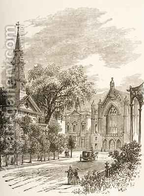 Huge version of St Marks Church in-the-Bowery New York 1880