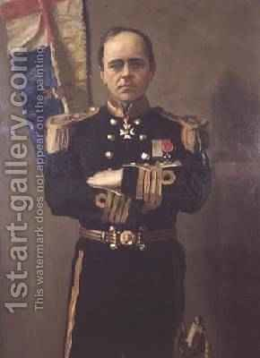 Robert Falcon Scott 1868-1912 by Harrington Mann - Reproduction Oil Painting