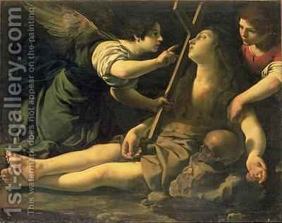 Rutilio Manetti: The Death of St Mary Magdalene - reproduction oil painting