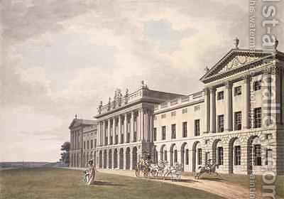 Huge version of View of Heveningham Hall in Suffolk the Seat of Sir Gerrard Vanneck Bart
