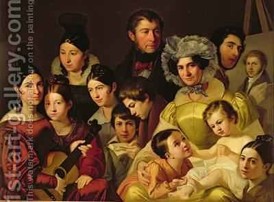 The Malatesta Family 1835 by Adeodato Malatesta or Malatesti - Reproduction Oil Painting