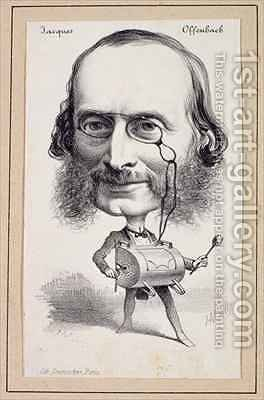 Portrait of Jacques Offenbach by Hippolyte Mailly - Reproduction Oil Painting