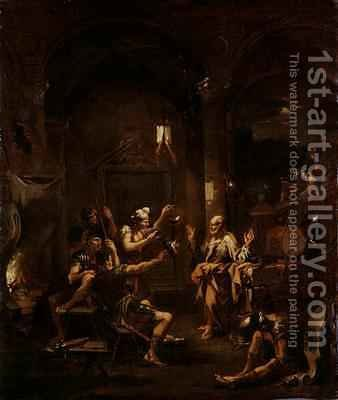St Peter Denying Christ by Alessandro Magnasco - Reproduction Oil Painting
