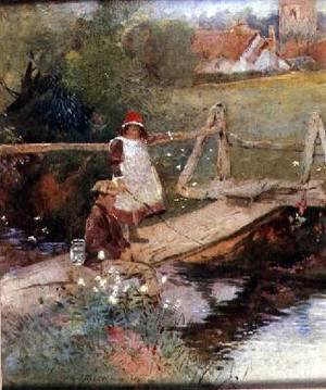 Reproduction oil paintings - Thomas Mackay - The Young Anglers