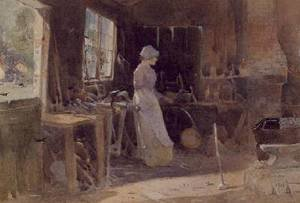Reproduction oil paintings - Thomas Mackay - The Blacksmiths Daughter 1906
