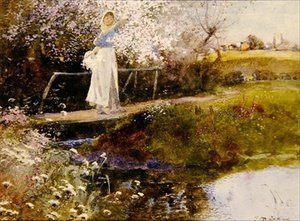 Reproduction oil paintings - Thomas Mackay - The Orchard Brook
