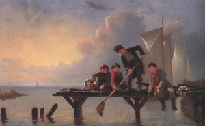Famous paintings of Other: Boys Crabbing 1855