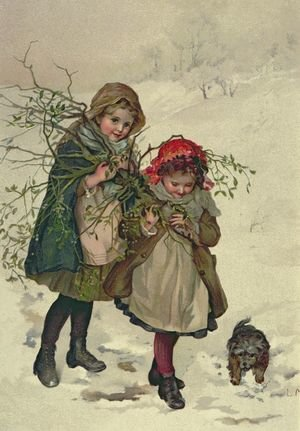 Famous paintings of Christmas: Illustration from Christmas Tree Fairy