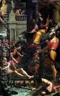 The Martyrdom of St Lawrence 1573 by Girolamo Del Crocifissaio (see Macchietti) - Reproduction Oil Painting