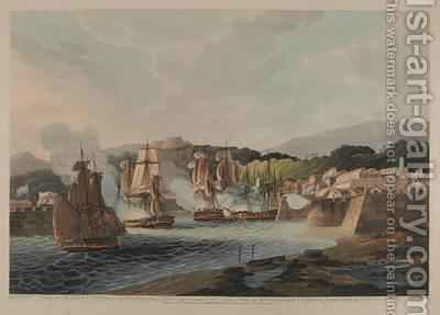 Taking the Island of Curacoa January 1st 1807 by (after) Lydard, Capt. - Reproduction Oil Painting