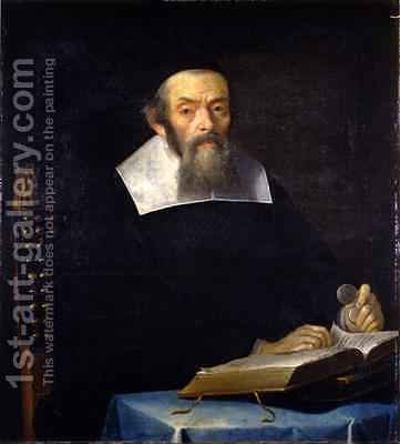 Portrait of Rabbi Jacob ben Aaron Sasportas by Isaac Luttichuys - Reproduction Oil Painting