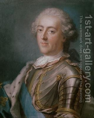 Portrait of Louis XV 1710-74 King of France by Gustav Lundberg - Reproduction Oil Painting