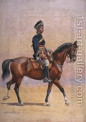 Soldier of the 12th Cavalry Jemadar Dogra by Alfred Crowdy Lovett - Reproduction Oil Painting