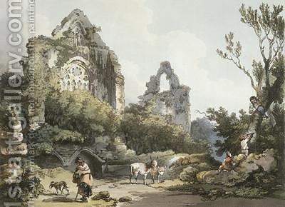 Tintern Abbey by (after) Loutherbourg, Philippe de - Reproduction Oil Painting