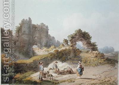 Gate of Carisbrook Castle by (after) Loutherbourg, Philippe de - Reproduction Oil Painting