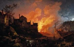 Rococo painting reproductions: Coalbrookdale by Night 1801