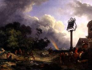 Rococo painting reproductions: The Rainbow 1784