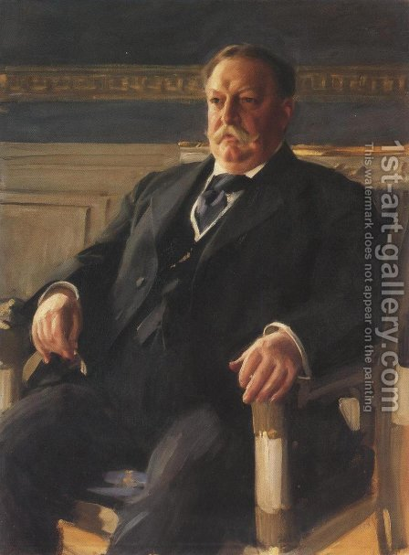 William Howard Taft 1911 by Anders Zorn - Reproduction Oil Painting