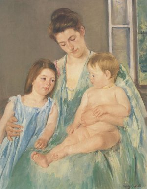 Reproduction oil paintings - Mary Cassatt - Young Mother And Two Children 1908