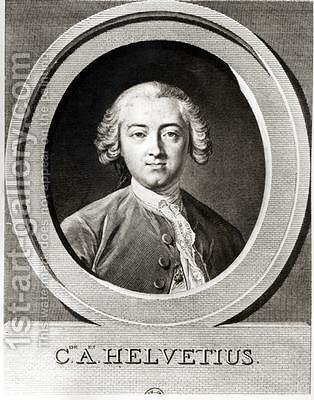 Portrait of Claude Adrien Helvetius 1715-1771 by (after) Loo, Carle van - Reproduction Oil Painting