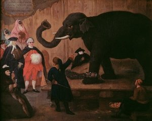 Pietro Longhi reproductions - An Elephant Shown in Venice