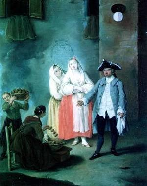 Reproduction oil paintings - Pietro Longhi - The Seller of Fritters
