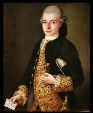 Reproduction oil paintings - Pietro Longhi - Portrait of a Gentleman with a Rose Buttonhole