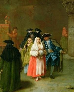 Reproduction oil paintings - Pietro Longhi - The New World